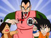 Dans Dragon Ball, comment s'appelle le petit garçon dont le père a été tué par Tâo Pai Pai qui habite devant la Tour Karin ?