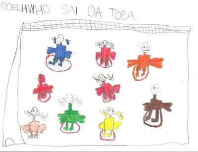 Essa ilustração da criança retrata qual tipo de jogo ?