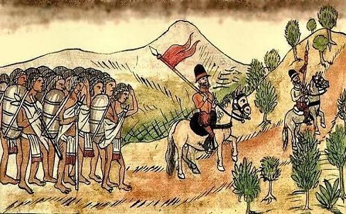 Mecanismo que consistía en entregar un grupo de indígenas a un español ( encomendero) que recibía sus tributos