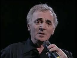 """C'est Charles Aznavour l'interprète de """"la bohème""""."""