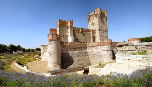 ¿En qué localidad se encuentra el castillo de la Mota?