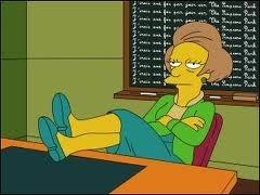 Pourquoi ai-je mis Edna Krapabelle à partir des questions pour la famille Flanders ? Parce que...