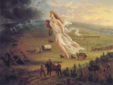 Doutrina usada para justificar a conquista do Oeste americano: