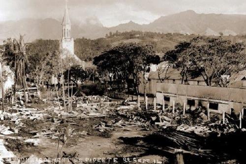 Par qui Papeete a-t-elle été bombardée ?