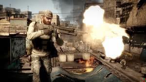 """Quel autre jeu de guerre """"Call of Duty"""" concurrence-t-il souvent (au niveau graphisme et combat) ?"""