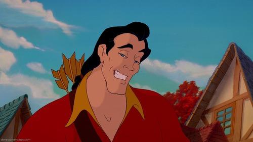 Dans la Belle et la bête: Comment Gaston voit-il la bête pour la première fois ?