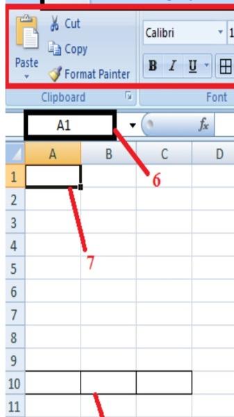 Perhatikan gambar yang tersedia. Tuliskan keterangan yang tepat mengenai bagian yang ditunjukkan oleh nomor 6 dan 7 secara berurutan !