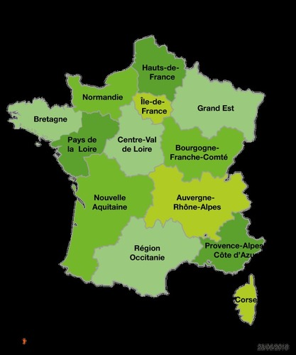 Depuis 2016, combien y a-t-il de régions en France metropolitaine ?