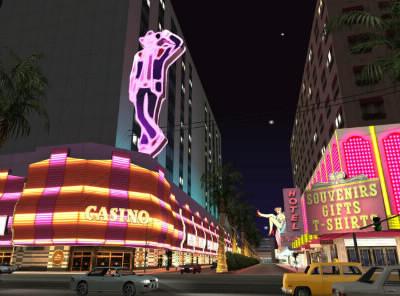 Dans cette image tirée de Grand Theft Auto : San Andreas, quelle ville peut-on apercevoir ?
