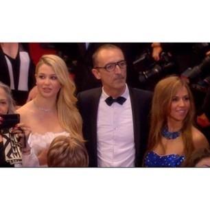 Elle est allée au festival de Cannes avec ?