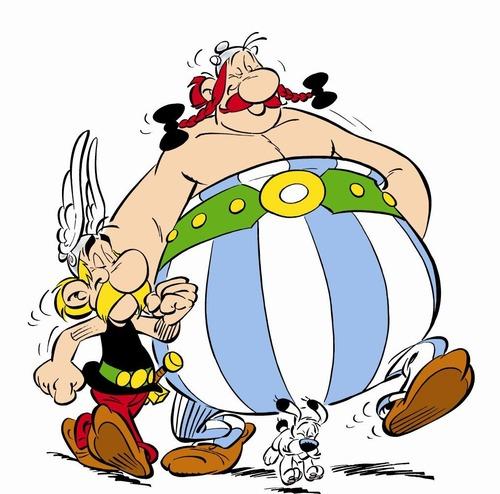 Detta är Asterix & Obelix och vad heter hunden?