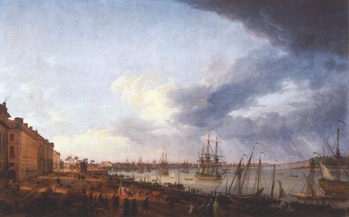 Quel port français est représenté sur cette huile sur toile ?