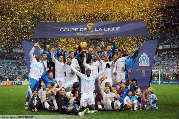Combien de fois successives les marseillais ont-ils remporté la Coupe de la Ligue ?