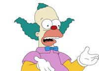 Qui a failli détrôner Krusty le clown ?