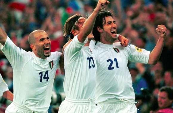 En seconde mi-temps, l' Italie ouvre le score sur un but de .....