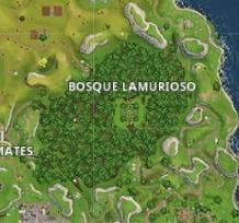 Qual animal gigante de pedra está situado no Bosque Lamurioso ?