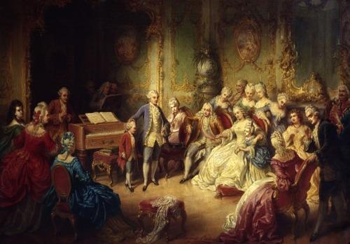 Quem é o jovem músico ao centro? (Palácio de Schonbrunn - Viena)