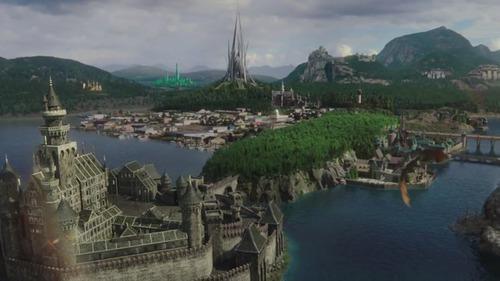 """No episódio final da série, """"Leaving Storybrooke"""", Roni (Lana Parrilla) une todos os reinos e lhes dá um nome. Qual é?"""