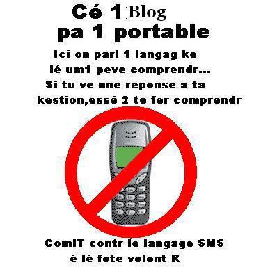 Est-ce que c'est bien d'utiliser le langage SMS  ?
