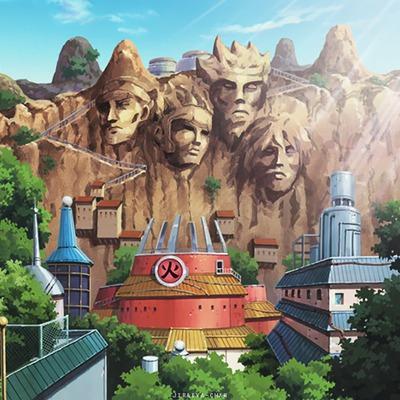 Porque Naruto pintava as esculturas dos Hokages?