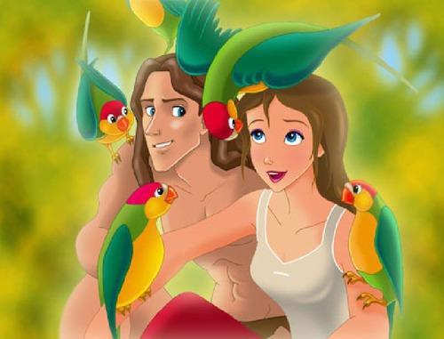 Où habite la femme qui recherche des gorilles dans le dessin animé Tarzan ?