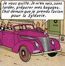 Où voit-on ce véhicule violet ?