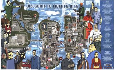 Voici une carte de Liberty City. De quel opus provient-elle ?