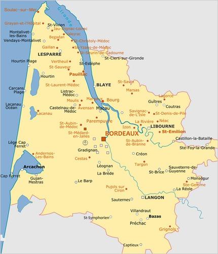 Dans quel département se trouve Bordeaux ?