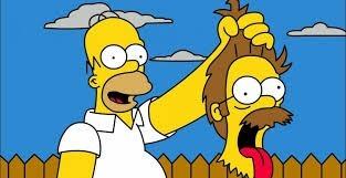 Passons maintenant à une autre famille, mais toujours dans la série animée les Simpson. Qui est Ned Flanders pour Homer ?