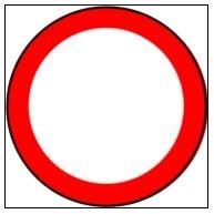 Que désigne un panneau rond à bord rouge ?
