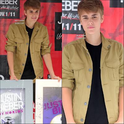À quelle date Justin a eu une conférence de presse pour son nouvel album ?