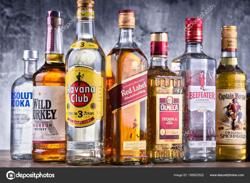 """""""São bebidas alcoólicas purificadas  a partir de uma substância fermentada, como frutas, cereais e vegetais e com grau alcoólico muito elevado"""""""
