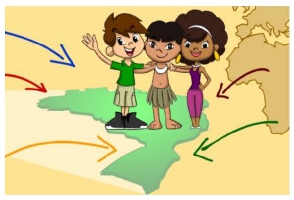 A população brasileira foi formada por diversos povos, entre eles destacam-se os :