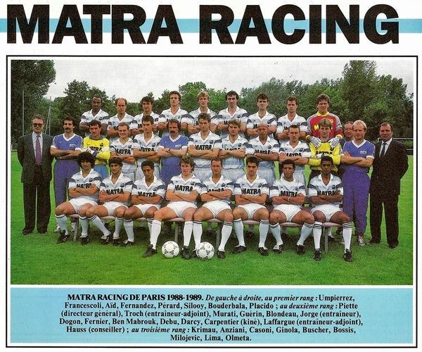 Avant de devenir le Matra Racing en 1987, quel était le nom du club ?