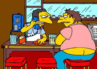 Qui fait tout le temps des blagues au téléphone à Moe's ?
