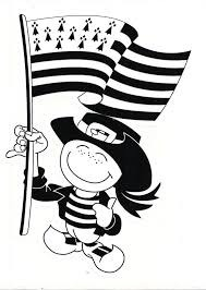 Les quatre bandes blanches du drapeau breton représentent :