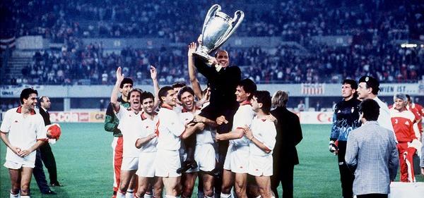 Qui perd la finale de 1990 contre l'AC Milan ?