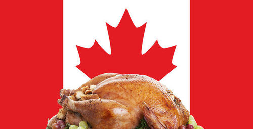 When is celebrated Canadian's Thanksgiving ?