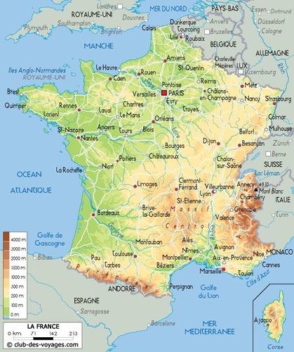 Combien de pays ont une frontière avec la France metropolitaine ?