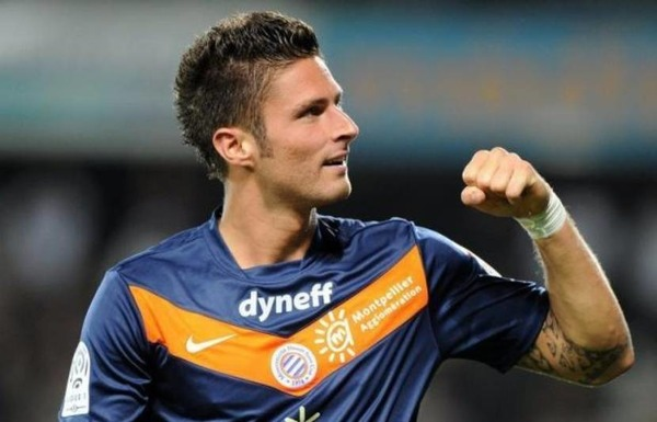Avec Montpellier, Olivier Giroud n'a jamais terminé meilleur buteur du championnat.