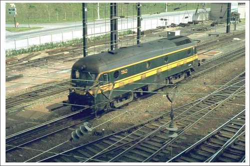 Comment s'appelait cette locomotive diesel d'autrefois de Belgique ?