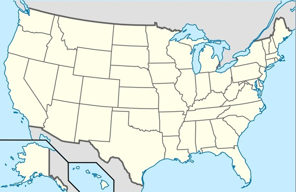 How many states is composed the USA of ?