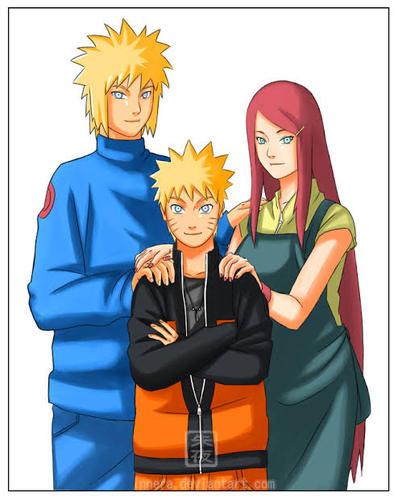 Os pais de Naruto são ?