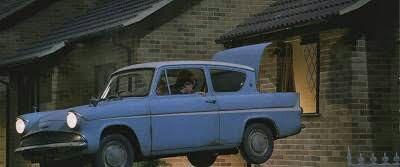Qual a matricula do carro voador dos Weasley