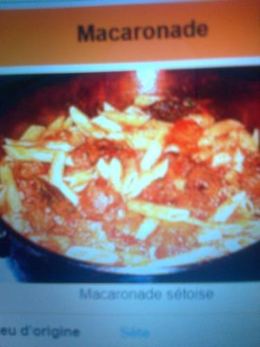 """Là""""MACARONADE"""" est une spécialité culinaire de quelle ville?"""