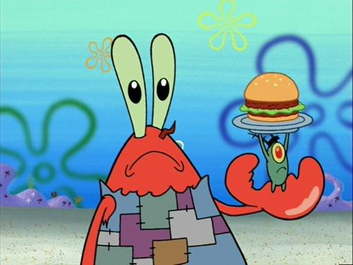 Proč pan Krabs nemá rád Planktona?