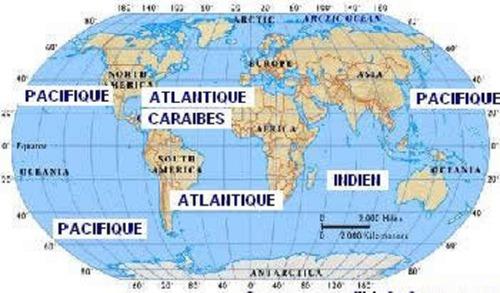 Combien y-a-t-il d'océans sur la Terre ?