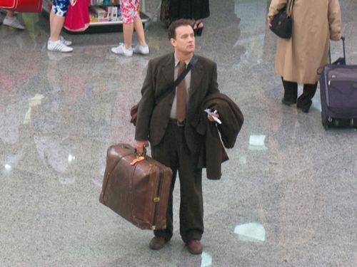 Dans quel film de Spielberg , Tom Hanks est-il bloqué dans un aéroport ?