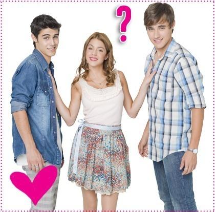 Tussen welke 2 jongens moet Violetta kiezen ?